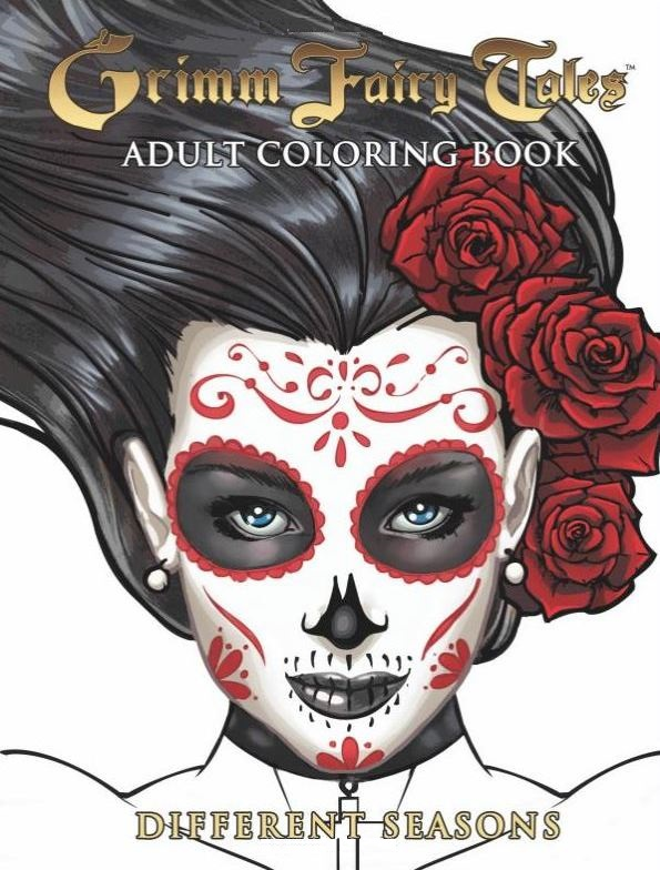 Grimm Fairy Tales Adult Coloring Book Small