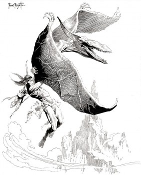 tarzan-at-the-earths-core-pterodactyl-frank-frazetta