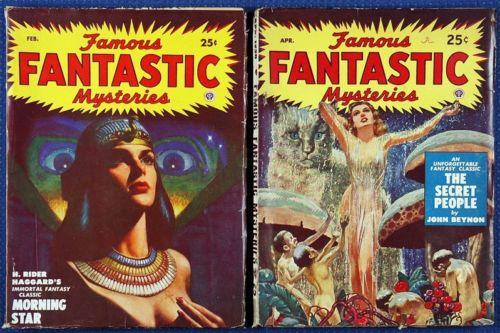 Famous Fantastic Mysteries lot 2