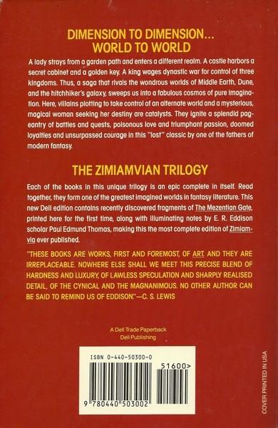 Zimiamvia a Trilogy E R Eddison-back-small