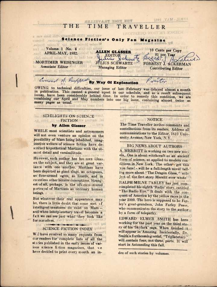 time traveller 1932 -4-05 cover signed-small