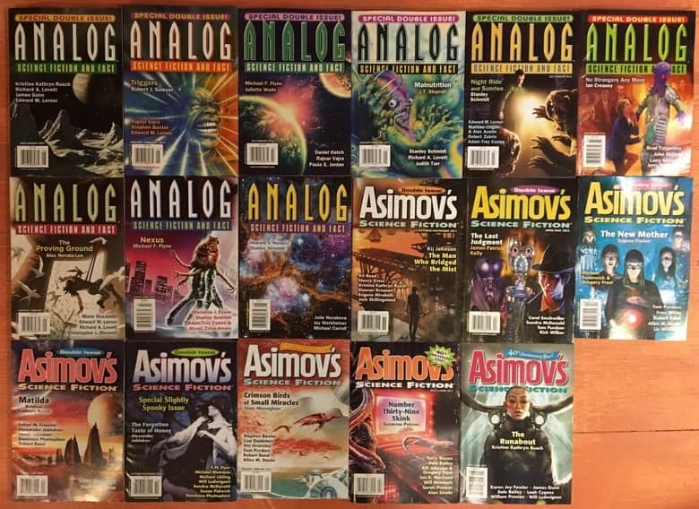Asimov Science Fiction and Analog double sized issues-small