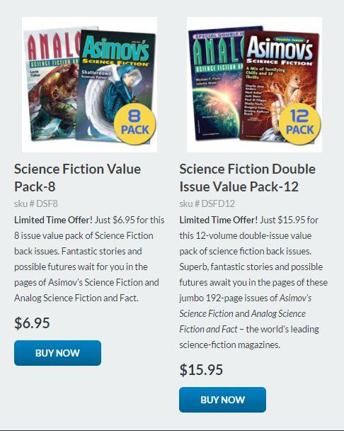 Asimov's and Analog Value Packs