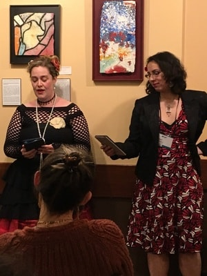 CSE Cooney and Amal El-Mohtar reading at Wiscon 2017-small