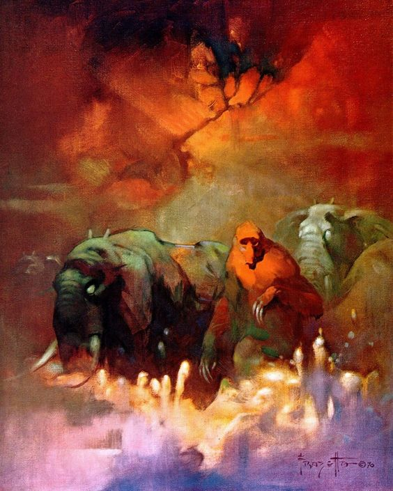 Downward to the Earth Frazetta