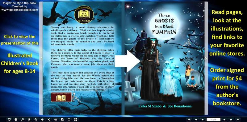 Flip Book for Three Ghosts in a Black Pumpkin