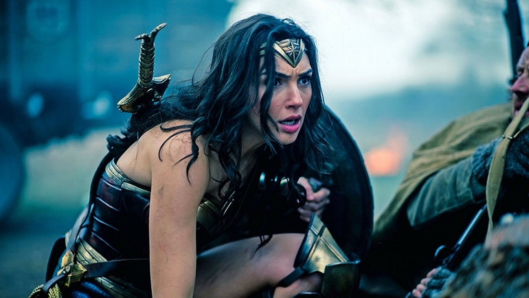 Gal Gadot in action as Wonder Woman-small