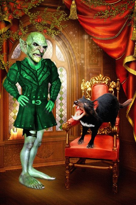 Hobgoblin and Ebenezer - Three Ghosts in a Black Pumpkin-small