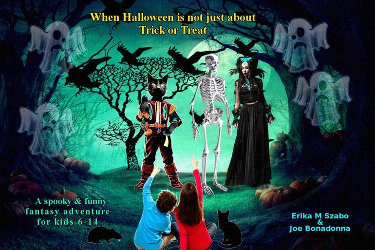 JACK, NIKKI, WISHBONE, GHOULINA, and CATMAN - Three Ghosts in a Black Pumpkin-small