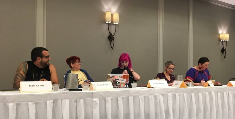 Revenge of Mecha Miscreants and Municipal Mysticism at Wiscon 2017-small
