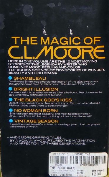 The Best of CL Moore-back-small