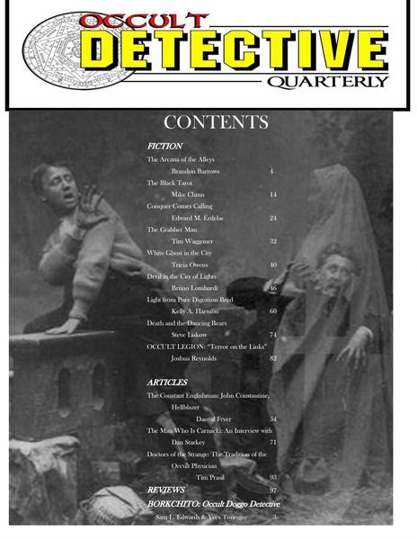 Occult Detective Quarterly 2 contents-small