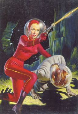 Pulp Space Woman
