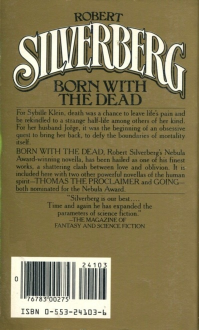 Robert Silverberg Born With the Dead Bantam-back-small