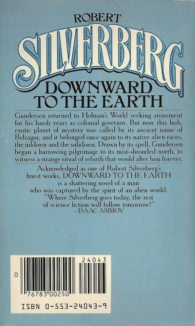 Robert Silverberg Downward to the Earth Bantam-back-small