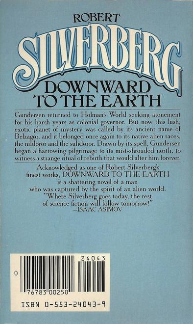 Robert Silverberg Downward to the Earth Bantam-back-small