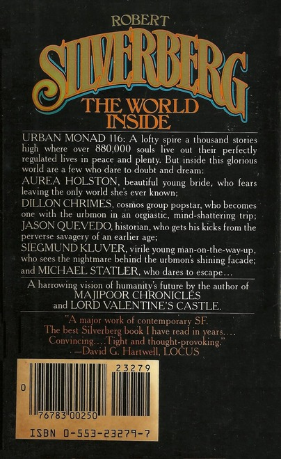 Robert Silverberg The World Inside Bantam-back-small