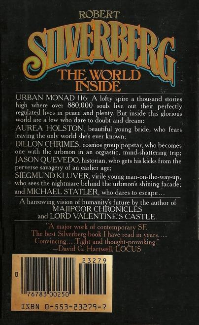 Robert Silverberg The World Inside Bantam-back-small