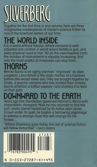 Robert Silverberg Three Novels The World Inside Thorns Downward to the Earth-back-small