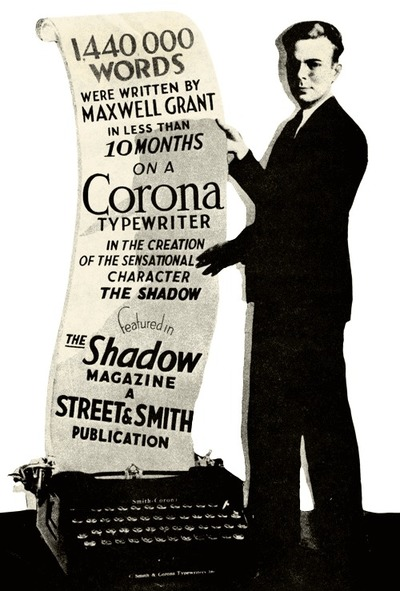 Maxwell Grant writes the Shadow-small