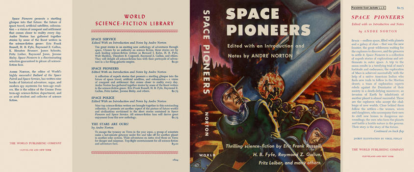 Space Pioneers Andre Norton dust jacket 2