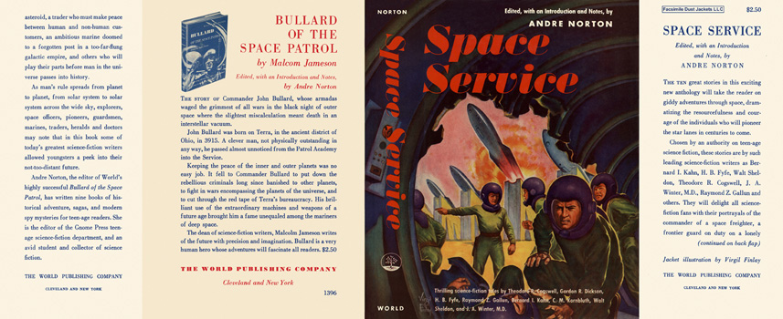 Space Service Andre Norton dust jacket