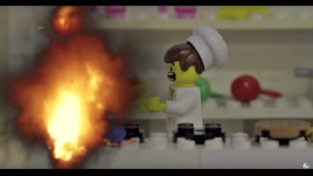 Lego Peter's Kitchen Disaster