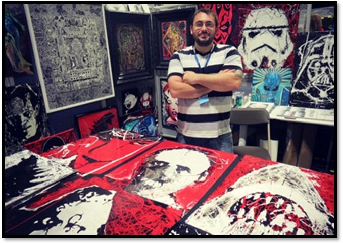Wizard World Comic Con Chicago 2017 Michael Kulick Art Works 2