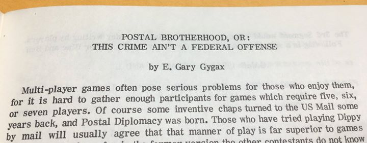 El Conquistador 12 Gary Gygax Postal Brotherhood