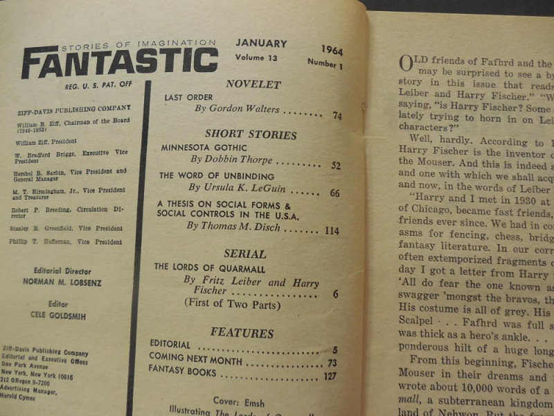 Fantastic Stories of Imagination January 1964-contents-small