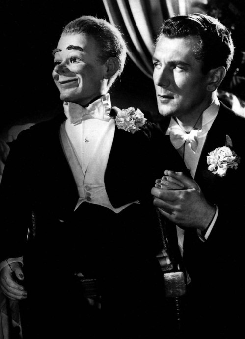 Michael Redgrave and Hugo-small