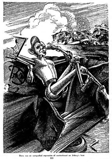 Sidney, the Screwloose Robot, illustration by Julian S. Krupa , Fantastic Adventures, June 1941