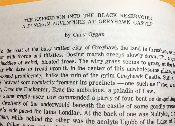 The Expedition Into the Black Resevoir Gary Gygax
