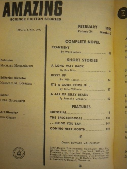 Amazing Science Fiction Stories February 1960 TOC-small