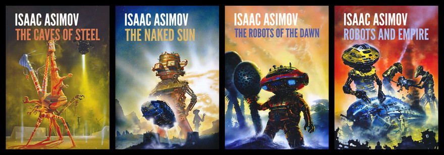 Isaac Asimov The Robot Novels UK editions-small