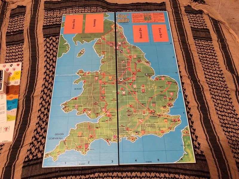King Maker Avalon Hill board-small