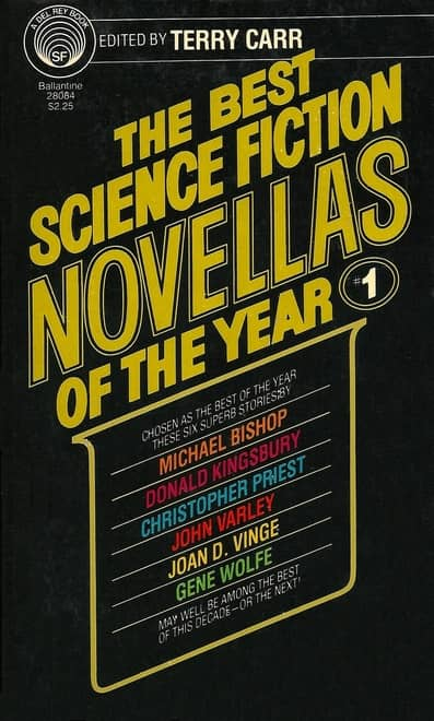 The Best Science Fiction Novellas of the Year 1 Terry Carr-small