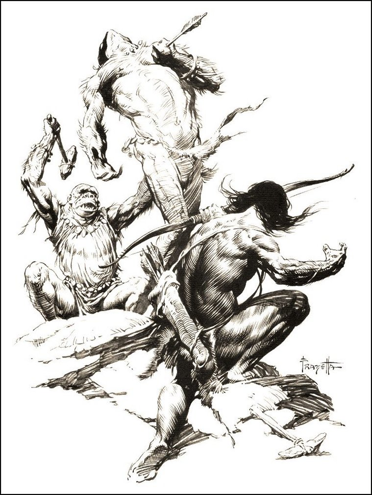 at-the-earths-core-sagoth-frank-frazetta