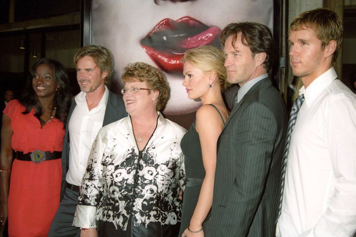 Charlaine with cast of True Blood