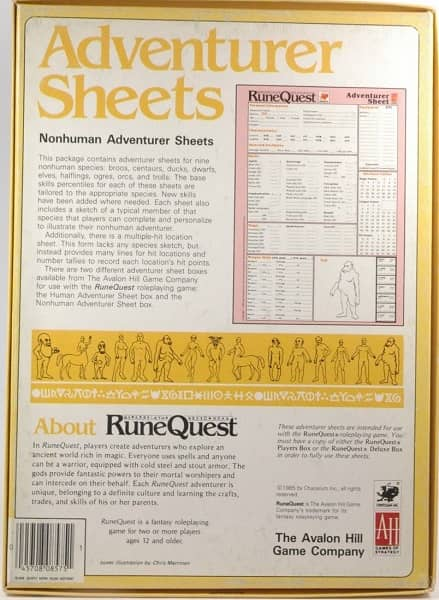 RuneQuest Adventurer Sheets Nonhuman-back-small