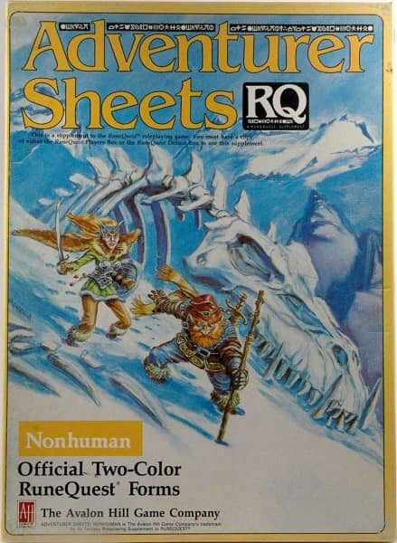 RuneQuest Adventurer Sheets Nonhuman-small