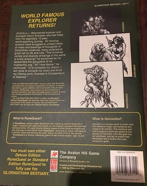 RuneQuest Gloranthan Bestiary-back-small