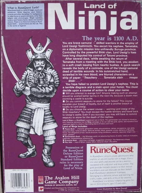 RuneQuest Land of Ninja-back 2-small