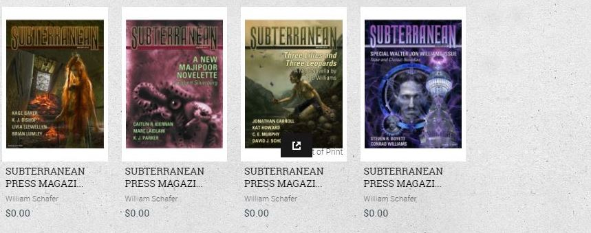 Subterranean Magazine digital back issues 3