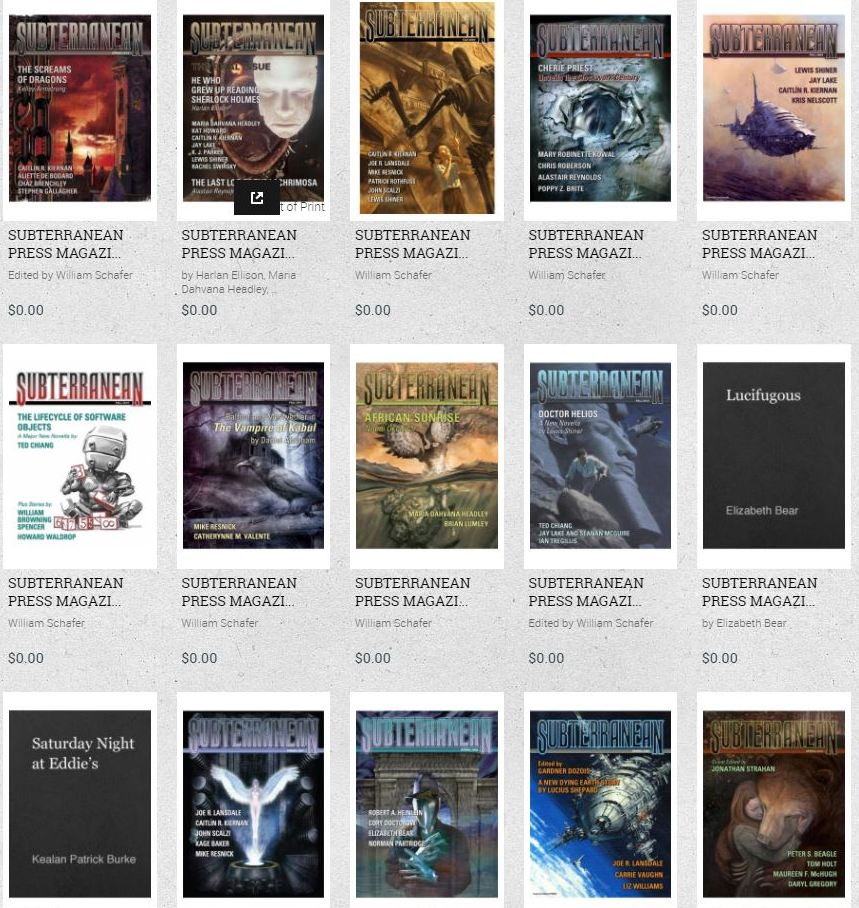 Subterranean Magazine digital back issues