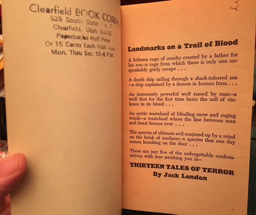 Thirteen Tales of Terror Jack London inside cover-small