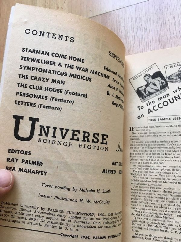 Universe Science Fiction September 1954-contents-small