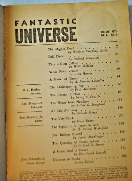 Fantastic Universe August 1953-contents-small
