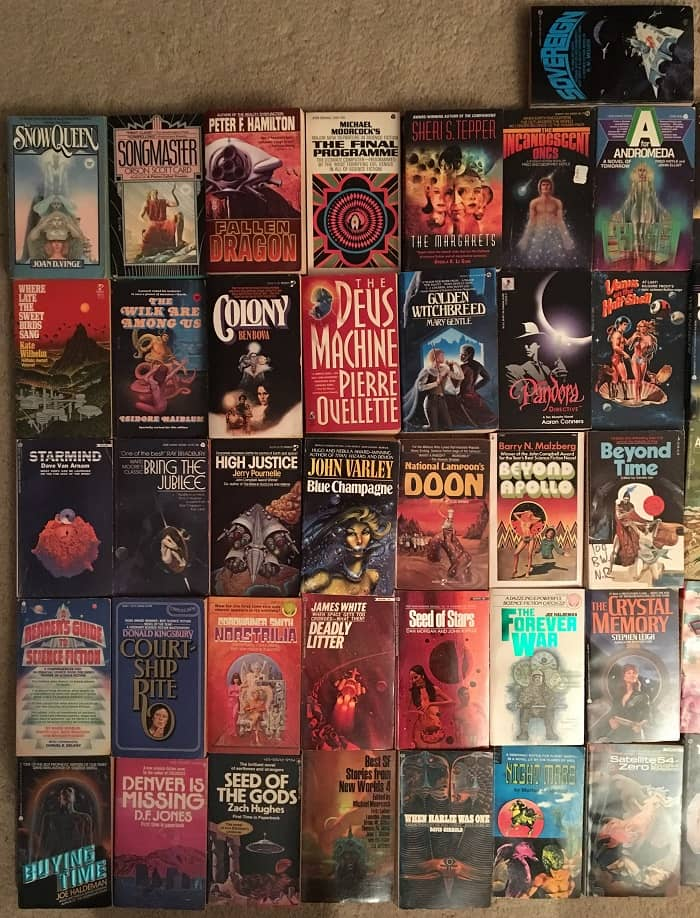 Science Fiction collection 65 novels 1970s-left-small