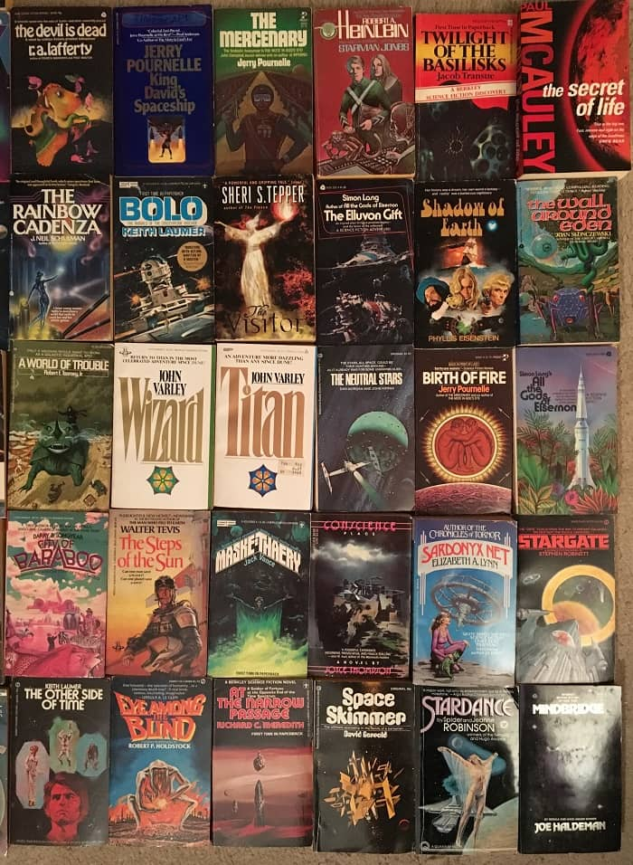 Science Fiction collection 65 novels 1970s-right-small